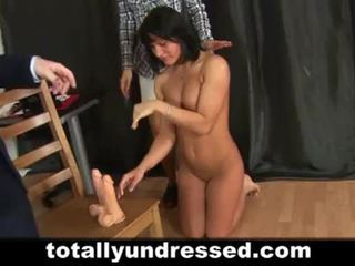 Young secretary pussy toyed at the interview