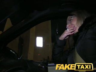 FakeTaxi Blonde gets her kit off in taxi cab - Porn Video 481