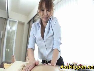 Anna mizukawa الآسيوية نموذج enjoys cocksucking