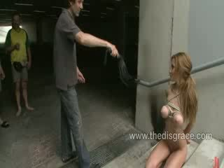 Alice Romain ass fucked and paraded around in public