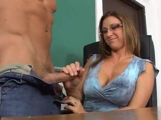 Skolotāja gets viņai bang lesson