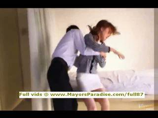 Akiho yoshizawa innocent hiina tüdruk gets tussu licked