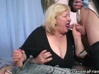Double fun for huge garry mama