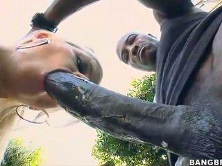 Blondīne skaistule takes a 12 inch dzimumloceklis augšup viņai pakaļa!