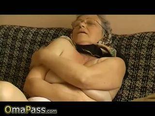 aged, granny, dildo