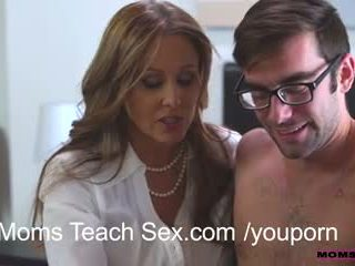 Step mom instigates a threesome with t...