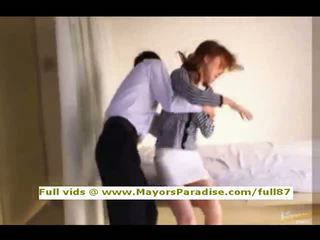 Akiho yoshizawa innocent kiinalainen tyttö gets pillua licked