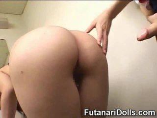 японски, futanari, космат