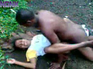 Excitat negru cuplu futand afara privat video