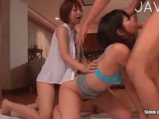 japonisht, group sex, cumshot