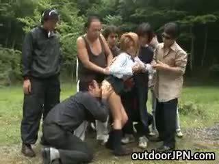 japanse, groepsseks, interraciale