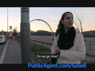 Publicagent ginger dievča gets do stranger autobus a fucks pre hotovosť
