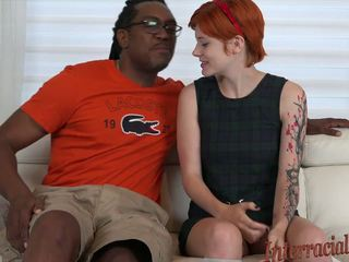 4k Tiny Redhead gets Pummeled by 12 Inch Black Cock.
