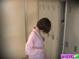 Wierd japani: söpö aasialaiset babes getting niiden koekäytössä examined.