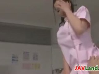 Beautiful Japanese Nurse Plays With A Cock