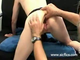 Worlds grootste gaping kut double fisted en gaped