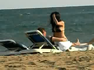 strand, kamera, sex