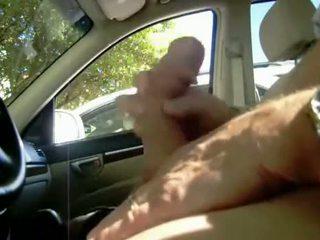 מלא - חובבן מכונית חשפן jerks את ל curious w