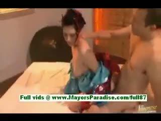 Saori Hara Horny Asian Wife In Bed Gets A Blowjob