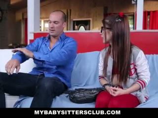 MyBabySittersClub - Petite Babysitter Fucked By The Horny Boss