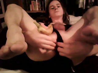 Ik vergelijken mijn dildo naar een banaan voor plezier