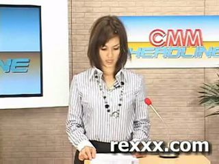 Tin tức reporter gets bukakke trong khi cô ấy công việc (maria ozawa bu