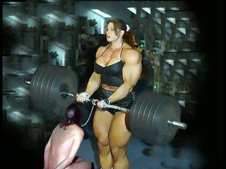 Female paghuhubog ng katawan fbb bodybuilder bbw pangdodomina ng babae