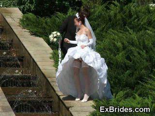 upskirt, jednotný, brides