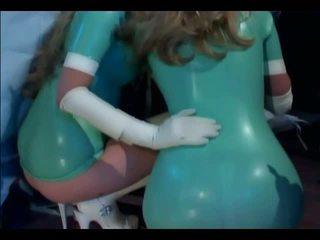 Vvm trio met nurses in latex lingerie en gl