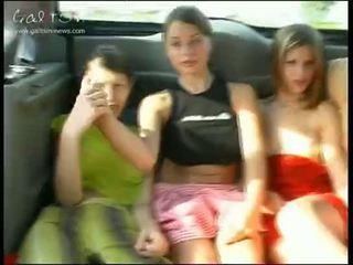 jong, meisjes, publiek