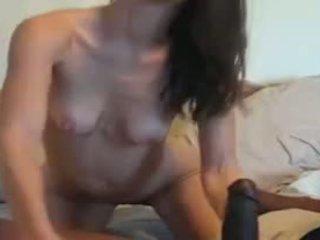 Magrinha milf vs enorme negra caralho vídeo