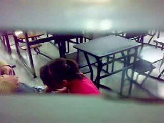 Slēpts camera bj pie the klasesistaba