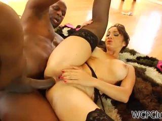 Anal loving asian takes a black cock
