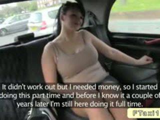 Povekas brittiläinen amatööri bangs fake taxi driver sisään julkinen