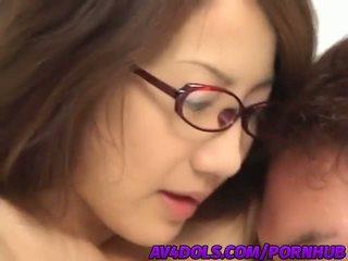 Vilain asiatique bureau dame rina hasegawa gets banged dur en la pause salle
