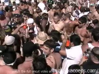 Insane spring pārtraukums pludmale ballīte ar karstās kails reāls meitenes