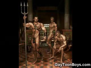 العضلات مثلي الجنس boys 3d fantasy!