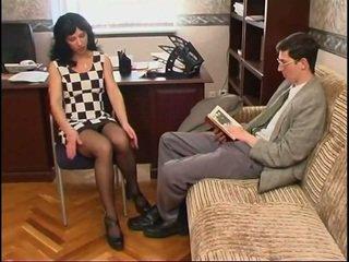 Dlouho legged ruský máma jsem rád šoustat v punčocha a a guy