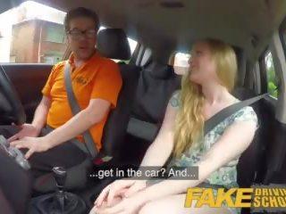 Fake driving skola ex learner satine sparks arse.