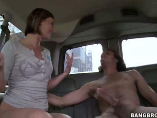 Seksual blondinka tilki nailed in the bang awtobus
