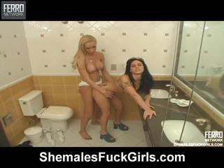 Famous Pornstars Deise, Agatha, Renata From Shemales Fuck Girls Getting Dirty