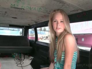 Cute Blonde Talked Into Having Sex In The Brutal Bus