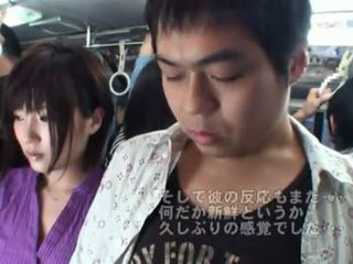 Pubblico bj onto il autobus in giro caldi giapponese milf.