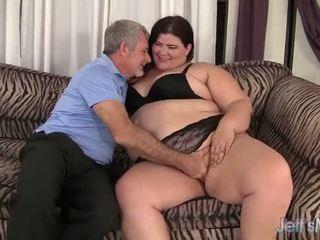 Fat slut Juicy Jazmynne riding a fat cock