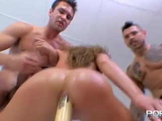 Cathy takes a baseball bat in her ass hole