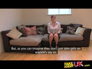 Fakeagentuk amateur brits meisje met reusachtig tieten gets multiple orgasms