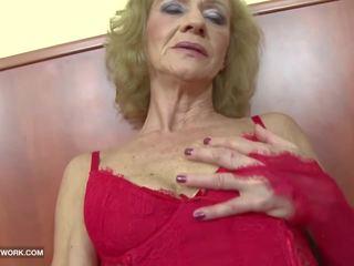 할머니, hd 포르노, 털이 많은