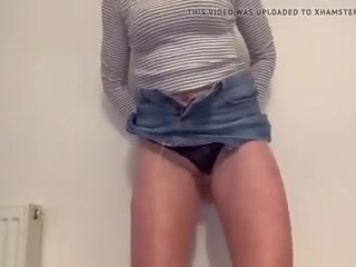 Cumming in My Miniskirt as I Play with My Wet Shaved.