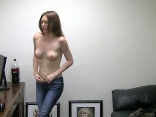Alicia takes her panties off. she needs money