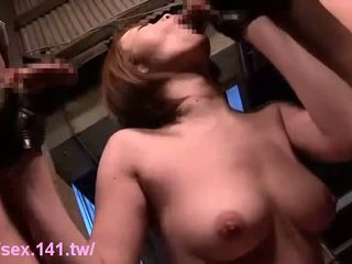 Asian babe has a dick in her pussy in a fuck